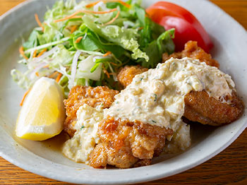 地鶏チキン南蛮定食
